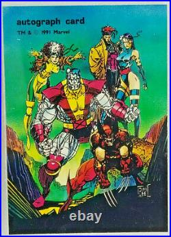 1991 Comic Images X-men Limited Edition Autograph Card Jim Lee Ultra Rare