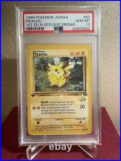 1999 Pokemon Pikachu Jungle 1ST EDITION PSA 10 RED CHEEKS GOLD STAMP PROMO
