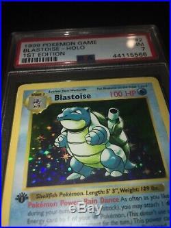 1ST EDITION SHADOWLESSBlastoise 2/102 Base Set MINT PSA 7 Holo Pokemon Card