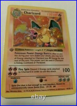1st Edition Base Set, Shadowless, & Unlimited COMPLETE ALL Charizards Ultra Rare
