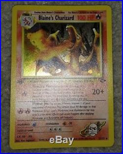 1st Edition Blaine's Charizard 2/132 Ultra Rare Holo Gym Challenge Pokemon Card