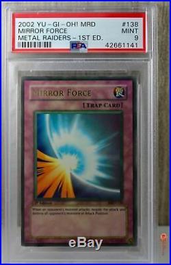 1st Edition Mirror Force Holo Ultra Rare Yu-Gi-Oh! Card MRD-138 PSA 9 MINT