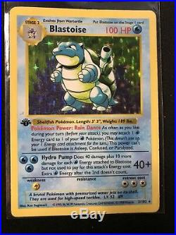 1st Edition SHADOWLESS Blastoise 2/102 Base Set ULTRA RARE Pokemon Card