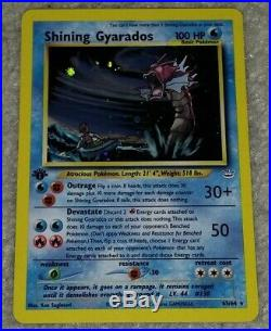 1st Edition Shining Gyarados 65/64 Ultra Rare Secret Neo Revelation Holo Foil