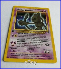 1st Edition Shining Mewtwo Holo Neo Destiny 109/105 Pokemon Card NM/M