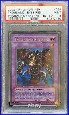 1st Edition Thousand-Eyes Restrict PSV-084 PSA 9 MINT YuGiOh