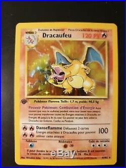 1st edition Charizard, FRENCH VERY RARE 4/102 base set PSA 8 pokemon
