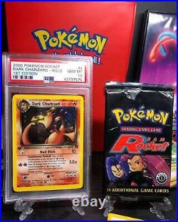 2000 Pokemon Team Rocket 1st Edition Holo Dark Charizard #4 PSA 10 GEM MINT