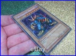 2002 LOB-000 Tri Horned Dragon 1st Edition Yu-Gi-Oh Card Blue Eyes White Dragon