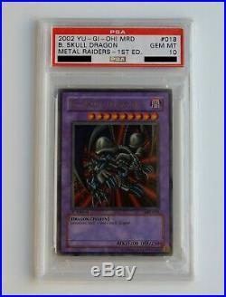 2002 YuGiOh! B. Skull Dragon 1st Edition MRD-018 Ultra Rare Foil PSA 10 GEM MINT