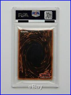 2002 YuGiOh! Dark Magician 1st Edition LOB-E003 Ultra Rare Holo PSA 10 GEM MINT