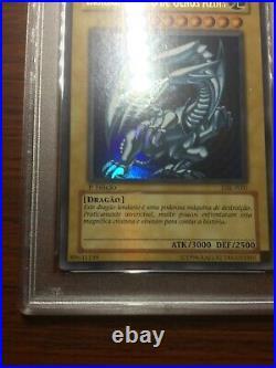 2002 Yu-Gi-Oh! Blue-Eyes White Dragon SDK-001 DIK-P001 1st Edition Ultra R PSA 8