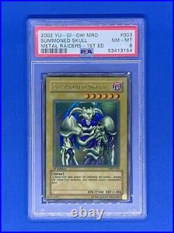 2002 Yu Gi Oh MRD SUMMONED SKULL 1st Edition MRD #003 Ultra Rare PSA 8 NM-MT