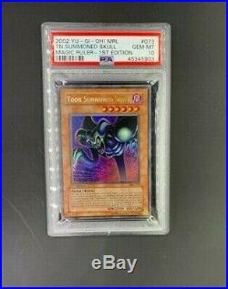 2002 Yu-Gi-Oh MRL-073 1st Edition TOON SUMMONED SKULL PSA 10 Gem MINT Holo Card