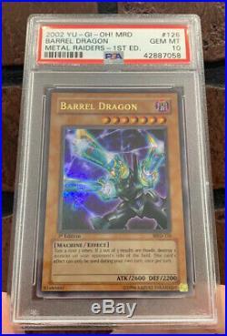2002 Yu-Gi-Oh! Metal Raiders Barrel Dragon MRD-126 1st Edition PSA 10 Gem Mint