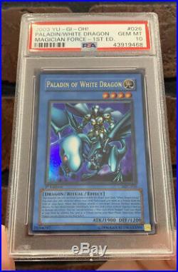 2003 Yu-Gi-Oh! Paladin of White Dragon MFC-026 1st Edition Ultra Rare PSA 10