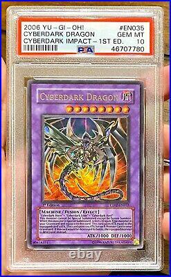 2006 Yu-Gi-Oh CYBERDARK DRAGON CDIP-EN035 1st Edition Ultra Rare PSA 10 Gem Mint