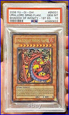 2006 Yugioh URIA LORD OF SEARING FLAMES SOI-EN001 1st Edition Ultra Rare PSA 10