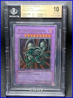 BGS 10 Black Skull Dragon Metal Raiders MRD 1st Edition Yugioh Card Ultra PSA