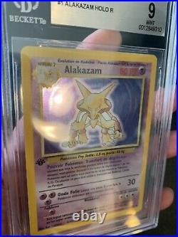 BGS 9 Alakazam Edition 1 Set De Base 1/102 Holo Rare @Frenchcharizard