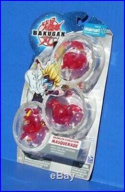 Bakugan Hydranoid Red Pyrus Translucent Evolution Masquerade Limited Edition Set