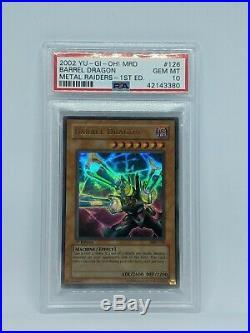 Barrel Dragon 1st Edition MRD-126 PSA 10 Gem Mint NA Ultra Rare Yu-Gi-Oh Card