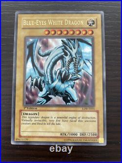 Blue-Eyes White Dragon 1st Edition LOB-E001 Yu-Gi-Oh