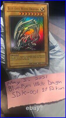 Blue-Eyes White Dragon 1st Edition SDK-001 Yu-Gi-Oh
