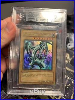 Blue-Eyes White Dragon LOB 001 1st Edition. BGS 9 MINT Extremely Rare