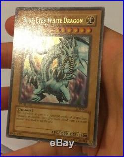 Blue-Eyes White Dragon LOB-001 Ultra Rare 1ST EDITION NORTH AMERICAN