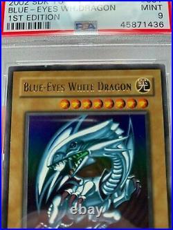 Blue Eyes White Dragon SDK-001 1st Edition PSA 9 MINT Ultra Rare Yugioh Card BGS