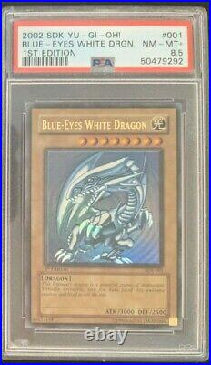 Blue Eyes White Dragon SDK-001 1st Edition Ultra Rare Yugioh PSA 8.5 NM-MT+