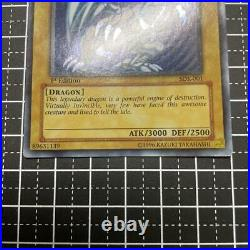 Blue Eyes White Dragon Yu-Gi-Oh Card SDK-001 1st Edition Used From Japan TY