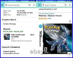 Brand New Sealed Pokemon Diamond Version (Nintendo DS, 2007) US NTSC Ultra Rare