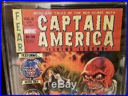 CGC 9.6 Captain America Living Legend # 2 150 Brereton Variant ULTRA RARE VHTF