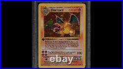 Carte Pokémon DRACAUFEU 4/102 Edition 1 Set de Base HOLO FR CHARIZARD pic