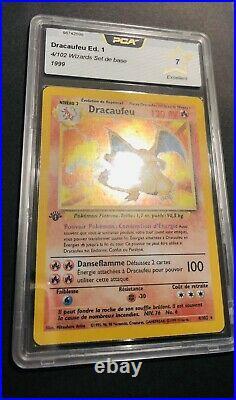 Carte Pokémon Dracaufeu set de base edition 1 4/102 WOTC PCA 7 EXCELLENT ++