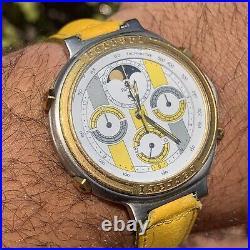 Cartier Ferrari Moonphase Chronograph Yellow Version Ultra Rare Steel Gold