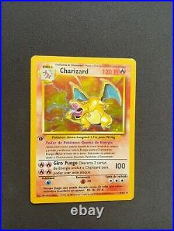 Charizard 1st Edition Base set 4/102 Ultra rare Great condition Spanish