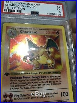 Charizard 1st Edition Shadowless Base Set 4/102 PSA 5