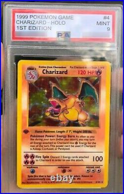 Charizard 1st Edition psa 9 Holo 1999