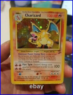 Charizard 4/130 Rare Base Set 2 Edition 1st Print Pokemon Card Damaged PLAYED