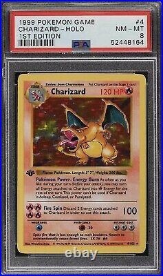 Charizard PSA 8 1st Edition Base Set 6/102 Holy Grail Pokemon 1999