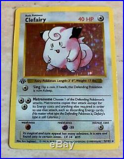 Clefairy 5/102 Holo 1st Edition (Shadowless) Base Set NM/MT Never Played