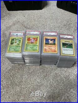 Complete 100% PSA 9 1st Edition Base Non Holo Pokemon Set with Both Pikachu Types