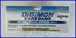 DIGIMON TCG Version V 1.0 Booster Box Special Release WITH Dash Packs NEW