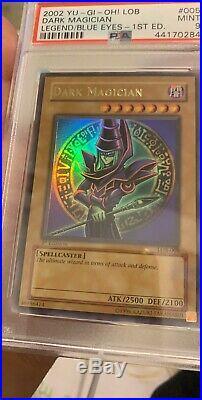 Dark Magician LOB-005 1st Edition PSA 9 MINT Legend Of Blue Eyes White Dragon