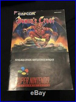 Demons Crest Snes Pal Version! Ultra Rare + Great Condition! 100% Original