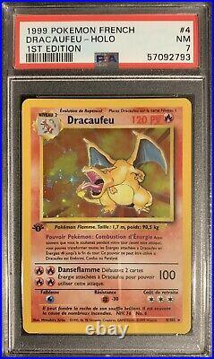 Dracaufeu PSA 7 Edition 1 Set De Base 4/102 Holo Rare PSA BGS PCA 1999