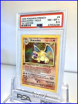 Dracaufeu PSA 8.5 Edition 1 Set De Base 4/102 Holo Rare PSA BGS PCA 1999
